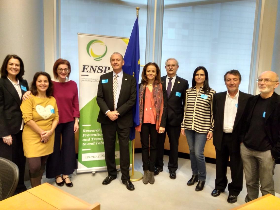 Presentación de la declaración de Madrid, en el Parlamento Europeo como miembro de ENSP